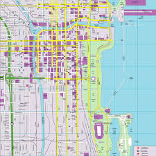 chicago map streets chicago cityflash map randal birkey illustration