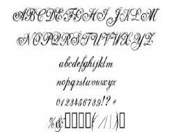 6 types of cursive fonts images cursive font alphabet letters