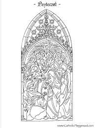 feast pentecost catholic coloring holy spirit