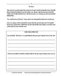 core worksheets reading literary texts daily test prep grade 5