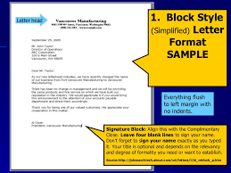 Document 2 Block Style Business Letter Practice Letter Writing