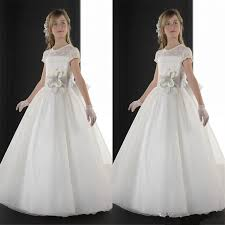communion gowns 2015 communion dresses crew sheer lace neck
