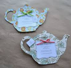 decorate your own tea cup make your own tea party invitations http www do it yourself