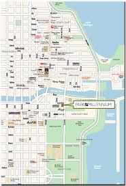 grant park chicago map area map park millennium