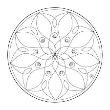Coloriages Mandala Fleurs  Adultes