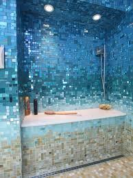 mosaic bathroom tile ideas 40 blue glass mosaic bathroom tiles tile ideas and pictures