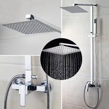 us bathroom chrome rain 8 shower head arm set faucet valve us bathroom chrome rain 8 shower head arm set faucet valve mixertap wall mount