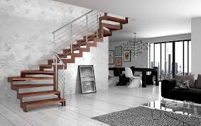 Quarter Turn Stairs Design Straight Staircase Quarter Turn Wooden Steps Metal Frame