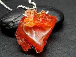 red opal necklace images Fire opal necklace raw stone necklace men mexican jpg