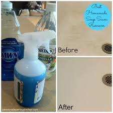 how do i clean soap scum from glass shower doors spring cleaning challenge soap scum remover recipe passionate