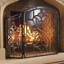 stained glass fireplace screens windows lighting ls light