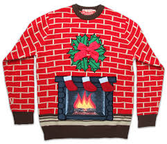 fireplace light up sweater uk import