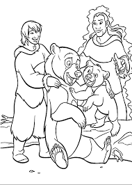 happy brother bear coloring pages kids printable free