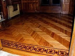 parquet flooring herringbone with intricate border inlay mini