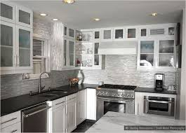 kitchen kitchen backsplash white cabinets black countertop black