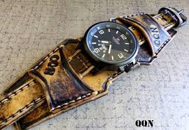 vintage leather bracelet watches images Leather cuff watch cuff men 39 s leather watch vintage etsy jpg