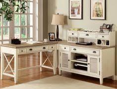 Sauder Graham Ridge Computer Desk Bush Furniture Stanford Antique Black With Hansen Cherry Accent