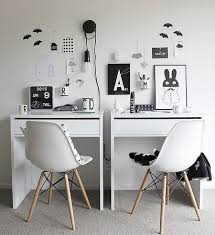 ikea micke desk setup for two office decor ideas pinterest