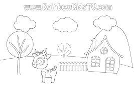 coloring pages rainbow kids tv