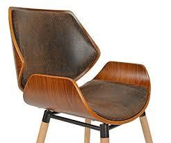bureau bois foncé ts ideen 1 x chaise de bureau bois de chêne foncé faux cuir marron