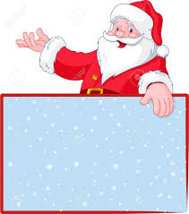 santa claus blank greeting place card with lift