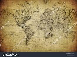 Vintage Map Vintage Map World 1814 Stock Photo 114234547 Shutterstock