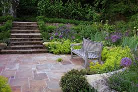 Sloping Backyard Ideas Sloped Backyard Ideas Landscape Traditional With Pavers Landscaping