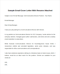 Sample Email Cover Letter With Attached Resume by Email Cover Letter Email Cover Letter Word Format Template Free