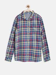 buy marks u0026 spencer kids boys multicoloured pure cotton checked
