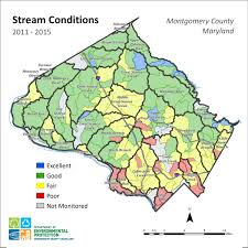 Map Of Maryland Counties County Watershed Health Department Of Environmental Protection