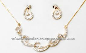 diamond sets design wavy diamond necklace set tanmaniya design for price less than