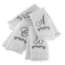 avanti monogram fingertip towels bed bath beyond