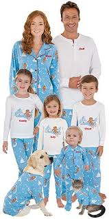 family matching pajamas begin a new tradition for the