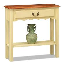 White Hallway Console Table Amazon Com Leick Wave Hall Console Table Ivory Finish Kitchen