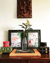 constantly changing corner of my living room indian vignette
