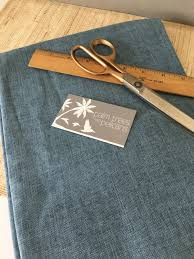 blue fabric remnant light blue home decor fabric denim look