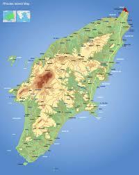 Greece Maps Map Of Rhodes Island Rodos Map Xarths Rodou Greece Island Rhodes