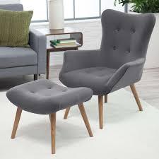 Ottoman Styles Furniture Wonderful Grey Laminated Tufted Modern Chair Style