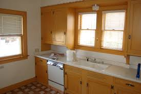 Horizontal Kitchen Cabinets Countertops Exterior Modern Interior Design Natural Brown Color