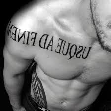 old latin tattoo fonts 60 latin tattoos for men ancient rome language design ideas