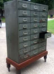 Rolling Metal Cabinet Wonderful Vintage 27 Drawer Metal Cabinet By Cole Steel On Rolling