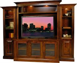 amish berlin tv entertainment center solid wood media wall unit