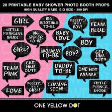 cool free baby shower photo booth props template in baby shower
