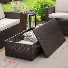 Garden Furniture Cushion Storage Bag by Coral Coast Berea Wicker 4 Piece Conversation Set With Storage