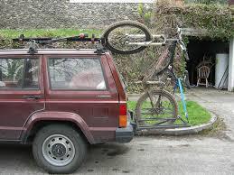 jeep cherokee mountain bike home made hitch rack mtbr com