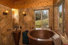 Copper Pedestal Eclectic Master Bathroom With Pedestal Sink U0026 High Ceiling In