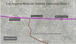 Metro Gold Line Extension Map by Santa Monica Wilshire Vermont
