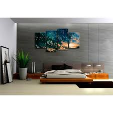 Surf Home Decor by Big Wall Art Canvas Print Hd Ocean Wave Surf Sunset Contemporary