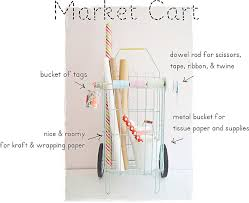 gift wrap cart two shades of pink a portable gift wrap station 3 simple ideas