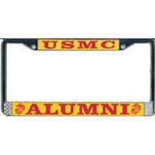 san diego state alumni license plate frame alumni usmc license plate frame